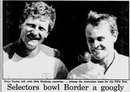 The <i>Sydney Morning Herald</i> reports on the surprise selection of Peter Taylor (left) for the Sydney Test, January 7, 1987
