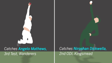 Faf du Plessis' leaping catches during South Africa's home summer