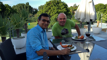 Martin Crowe with Sambit Bal