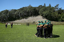 The Central Districts players huddle at Pukekura Park, Central Districts v Northern Districts, The Ford Trophy, Pukekura Park, New Plymouth, February 4, 2017