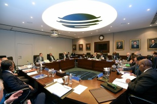 A view of the ICC Board Meeting in session, Dubai, February 4, 2017