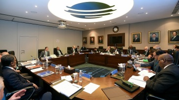A view of the ICC Board Meeting in session
