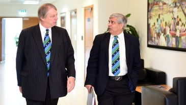 Giles Clarke and Shashank Manohar were in attendance at the ICC Board meeting