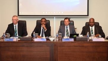 Francois Erasmus, Dave Cameron, David Peever and Chris Nenzani attend the ICC Board Meeting