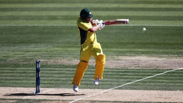 Aaron Finch gets up off his toes to flick the ball towards square leg