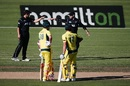 Double trouble: Kane Williamson and Ross Taylor set the field for Marcus Stoinis and Pat Cummins, New Zealand v Australia, 3rd ODI, Hamilton, February 5, 2017