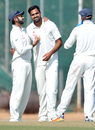 Aniket Choudhary took 4 for 26 on the first day, India A v Bangladesh, Tour match, 1st day, Hyderabad, February 5, 2017