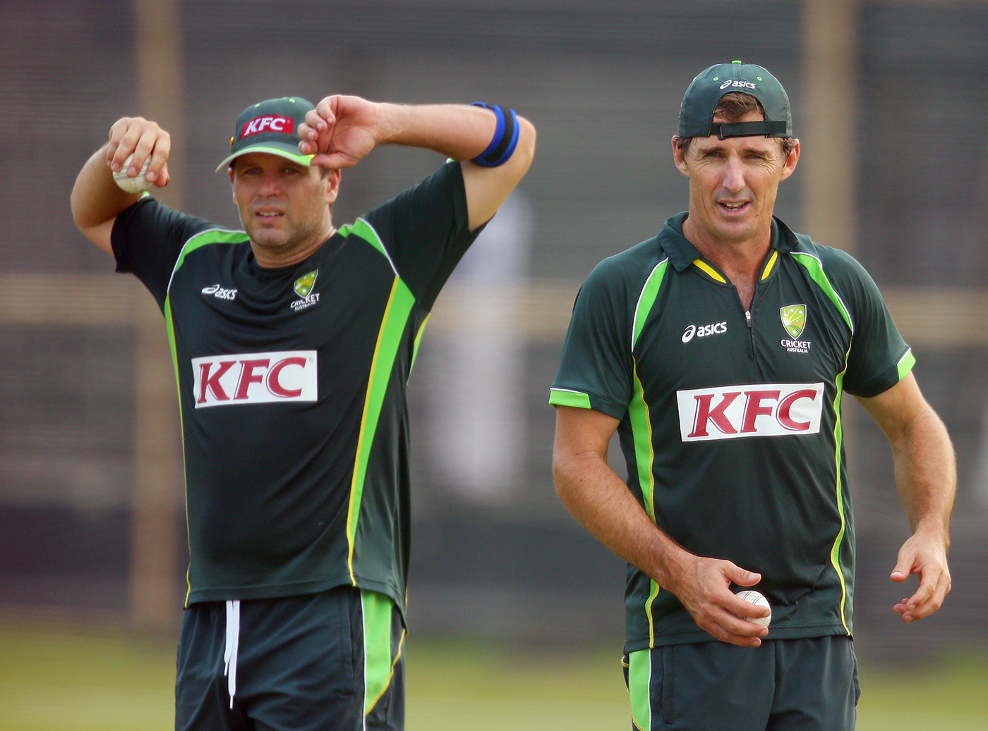 Brad Company: Hodge and Hogg at the 2014 World T20. Both went on to play T20 for another four years