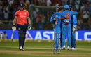 England celebrate Jason Roy's dismissal, India v England, 3rd T20I, Bangalore, February 1, 2017