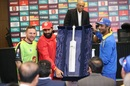 Brendon McCullum, Misbah-ul-Haq and Kumar Sangakkara unveil the Hanif Mohammad trophy for Best Batsman of the PSL, PSL trophy unveiling ceremony, Dubai, February 6, 2017