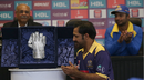 Sarfraz Ahmed unveils the Imtiaz Ahmed trophy for Best Wicketkeeper of the PSL, PSL trophy unveiling ceremony, Dubai, February 6, 2017