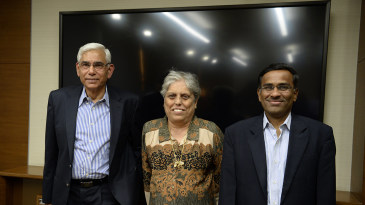 Vinod Rai, Diana Edulji and Vikram Limaye, the BCCI administrative panel appointed by the Supreme Court