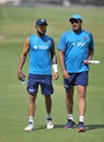 Brains trust: Virat Kohli and Anil Kumble have a chat, Hyderabad, February 8, 2017