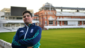 Alastair Cook at Lord's after confirming his resignation as England captain