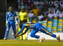 Jomel Warrican takes a diving catch to dismiss Andre McCarthy, Barbados v Jamaica, WICB Regional Super50, Bridgetown, February 9, 2017