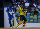 Devon Thomas pulls the ball as Shai Hope looks on, Barbados v Jamaica, WICB Regional Super50, Bridgetown, February 9, 2017