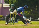 Anthony Bramble runs out Timroy Allen, Guyana v ICC Americas, WICB Regional Super50, Barbados, February 9, 2017