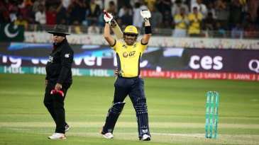 Kamran Akmal is pumped up after getting to a half-century