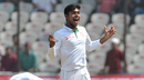 Mehedi Hasan celebrates after dismissing R Ashwin, India v Bangladesh, only Test, 2nd day, Hyderabad, January 10, 2017