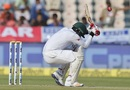 A short ball forces Tamim iqbal to duck, India v Bangladesh, only Test, 2nd day, Hyderabad, February 10, 2017
