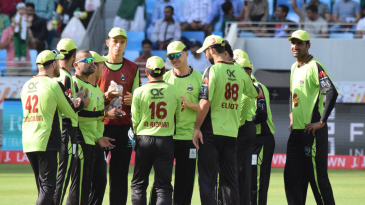 The Lahore Qalandars celebrate a wicket