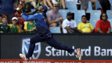 Sachith Pathirana dropped a chance off Faf du Plessis