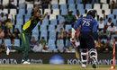 Imran Tahir celebrates his dismissal of Dhananjaya de Silva, South Africa v Sri Lanka, 5th ODI, Centurion, February 10, 2017