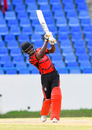 Jason Mohammed drives during his 84, Trinidad & Tobago v West Indies Under-19, Regional Super50, Group A, North Sound, February 10, 2017