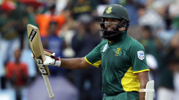 Hashim Amla went on to his 50th international hundred
