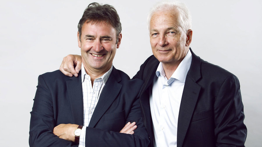 Chris Cowdrey and David Gower