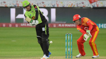 Jason Roy steered Lahore Qalandar to their first win with an unbeaten 51-ball 60