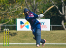 Hamza Tariq strokes a six during his 32, ICC Americas v Jamaica, Regional Super50, Group B, Windward Park, February 11, 2017