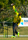 Damion Jacobs bowls during his spell of 6 for 34, ICC Americas v Jamaica, Regional Super50, Group B, Windward Park, February 11, 2017
