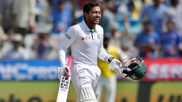 Mushfiqur Rahim grins after completing his hundred