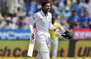 Mushfiqur Rahim grins after completing his hundred, India v Bangladesh, one-off Test, Hyderabad, 4th day, February 12, 2017