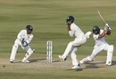 Mahmudullah plays a square drive, India v Bangladesh, only Test, Hyderabad, 4th day, February 12, 2017