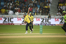 Wahab Riaz delivers the ball, Lahore Qalandars v Peshawar Zalmi, Dubai, February 12, 2017
