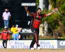 Ravi Rampaul's appeal for lbw is upheld to claim Jason Campbell, Leeward Islands v Trinidad & Tobago, Regional Super50, Group A, Coolidge, February 12, 2017