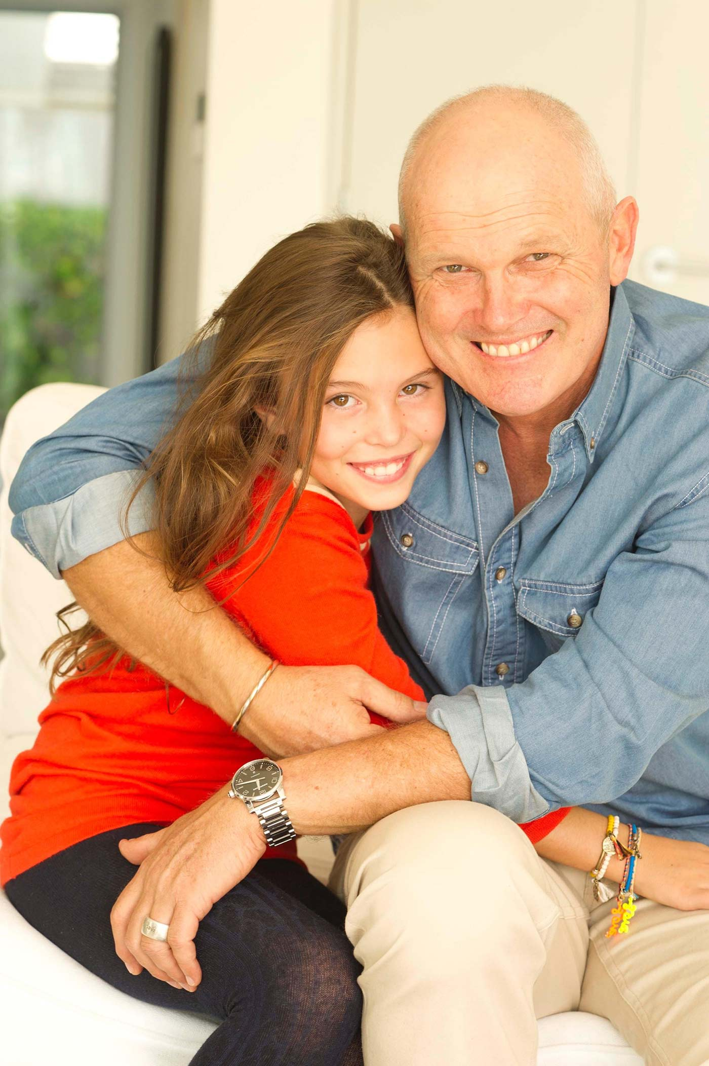 Crowe with his daughter Emma
