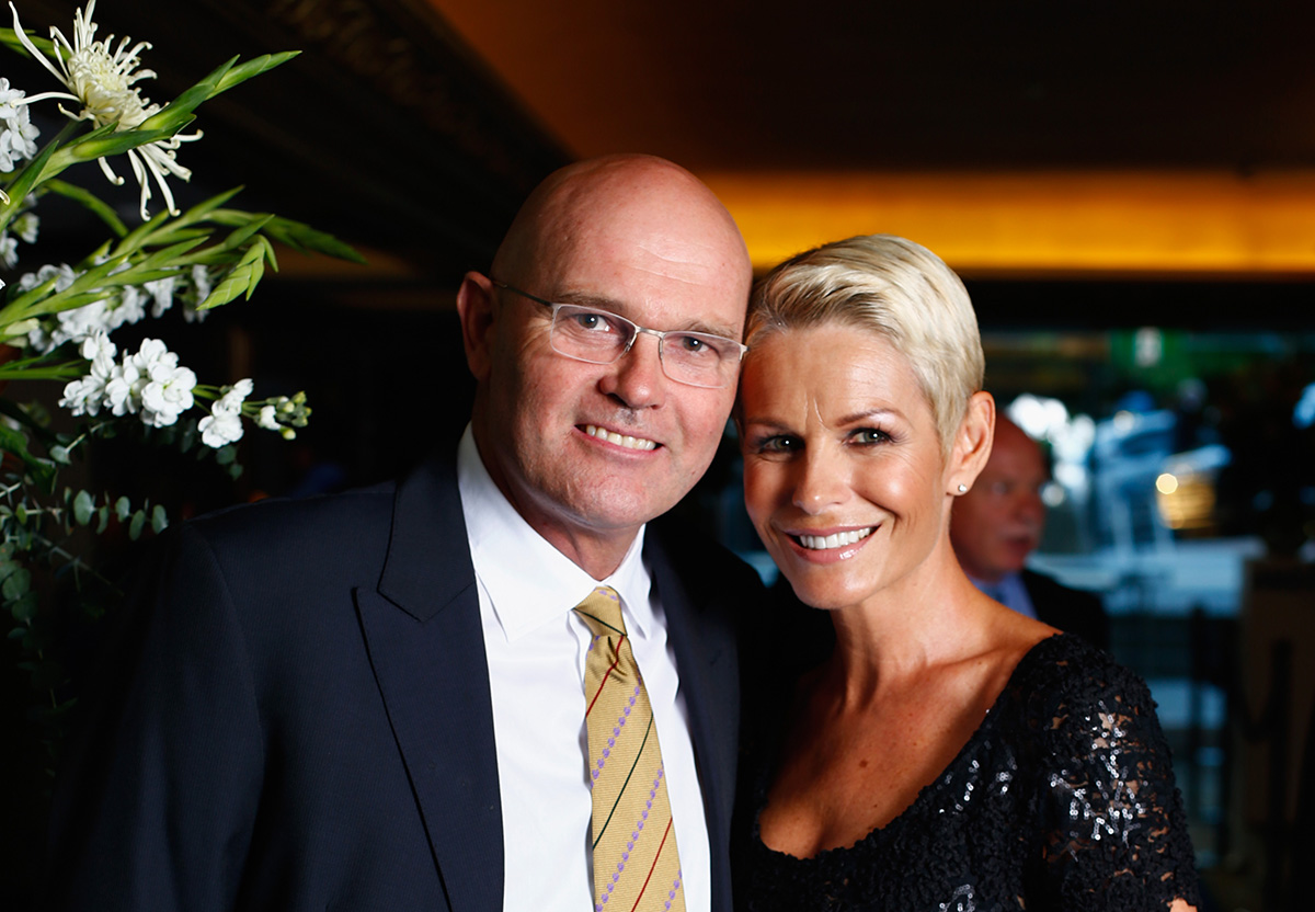 Martin Crowe and his wife, Lorraine Downes at the New Zealand Cricket awards, 2015