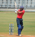 Harpreet Singh steers the ball to the leg side, Central Zone v East Zone, Syed Mushtaq Ali Trophy Inter Zonal, Mumbai, February 13, 2017
