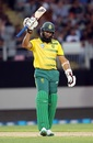 Hashim Amla reached his sixth T20I half century, New Zealand v South Africa, one-off T20I, Auckland, February 17, 2017