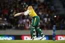The ball zips past AB de Villiers, New Zealand v South Africa, one-off T20I, Auckland, February 17, 2017