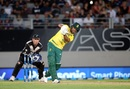 JP Duminy launches into a shot, New Zealand v South Africa, one-off T20I, Auckland, February 17, 2017
