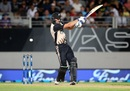 Tom Bruce pulls the ball away, New Zealand v South Africa, one-off T20I, Auckland, February 17, 2017