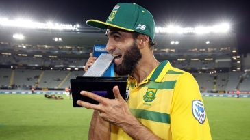 Imran Tahir was declared the Player of the Match for his five-wicket haul
