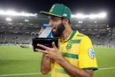Imran Tahir was declared the Player of the Match for his five-wicket haul, New Zealand v South Africa, one-off T20I, Auckland, February 17, 2017