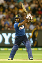 Dilshan Munaweera hits on the up through the off side, Australia v Sri Lanka, 1st T20I, Melbourne, February 17, 2017