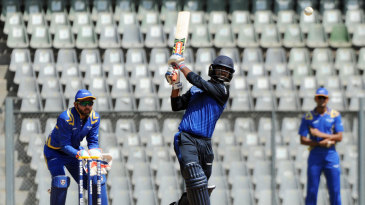 Virat Singh launches one down the ground