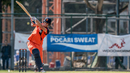 Ben Cooper pulls through the leg side during his 78, Hong Kong v Netherlands, WCL Championship, Mong Kok, February 18, 2017